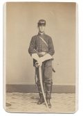 FULL STANDING CDV OF 15TH PENNSYLVANIA CAVALRY SOLDIER