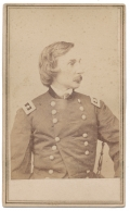 CDV OF MAJOR GENERAL G. K. WARREN OF LITTLE ROUND TOP AT GETTYSBURG FAME