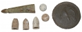 LOT OF GETTYSBURG RELICS INCLUDING AN EAGLE BREAST PLATE