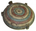 PAINTED FEDERAL M1858 CORRUGATED RELIC CANTEEN FROM THE ROSENSTEEL COLLECTION OF GETTYSBURG