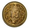 NEW YORK 13TH REGIMENT COAT BUTTON, NY49A