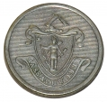 MASSACHUSETTS 1 PIECE STATE SEAL COAT BUTTON