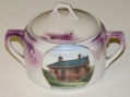 JENNIE WADE HOUSE SOUVENIR SUGAR BOWL & LID