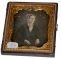 SIXTH PLATE DAGUERREOTYPE OF OLDER LADY