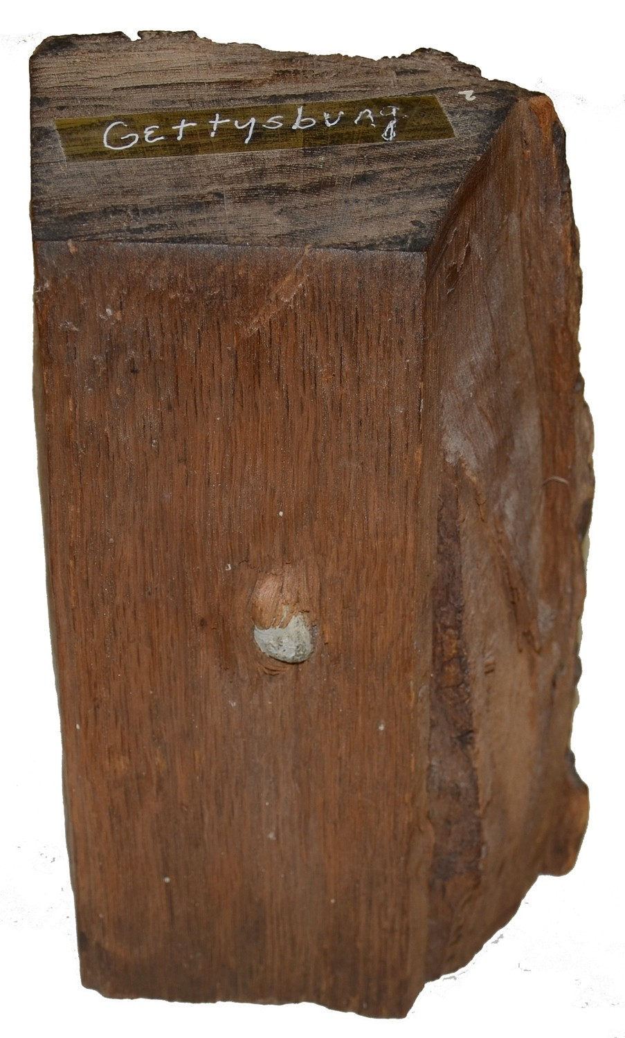 "LARGE ""BULLET IN WOOD"" FROM LEE'S HEADQUARTERS MUSEUM"