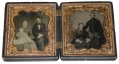 UNION CASE WITH TWO SIXTH PLATE IMAGES - SOLDIER & WIFE