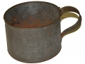 LARGE TINNED MESS IRON CUP