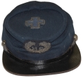 SIXTH ARMY CORPS STAFF OFFICER'S CHASSEUR STYLE KEPI WITH CORPS BADGE