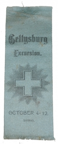 GETTYSBURG EXCURSION RIBBON 6th CORPS 1886 - PROBABLY 7th, 10th and 37th MASS. VOLS.