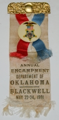 1901 GAR RIBBON – DEPARTMENT OF OKLAHOMA NATIONAL ENCAMPMENT