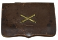 CIVIL WAR PISTOL CARTRIDGE BOX WITH ARTILLERY INSIGNIA