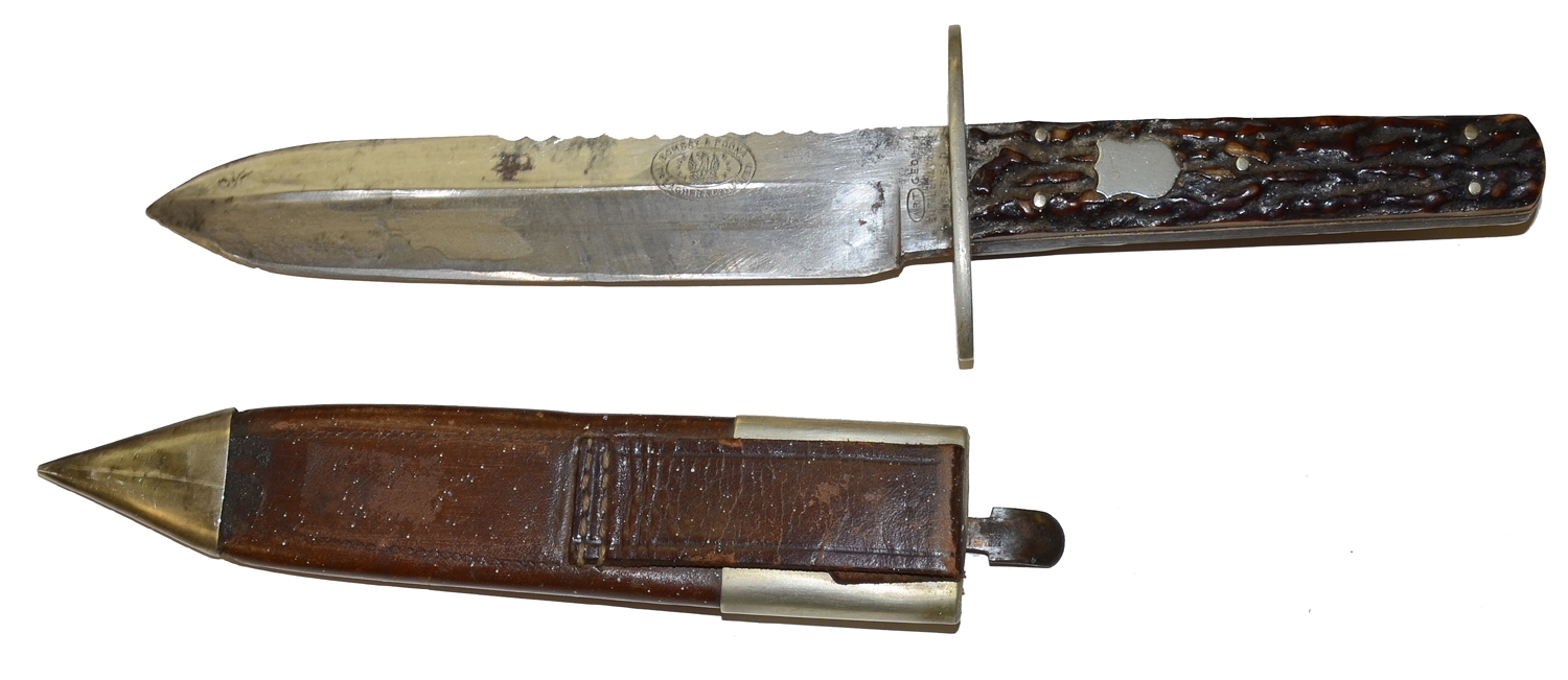 BRITISH BUTLER AND COMPANY SAWTOOTH BOWIE KNIFE