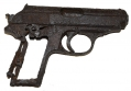 RELIC CONDITION WORLD WAR TWO GERMAN WALTHER PPK RECOVERED IN THE ARDENNES
