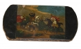 EYEGLASS CASE WITH HAND PAINTED HUNT SCENE