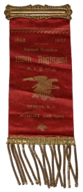126th NEW YORK VOLUNTEERS REUNION RIBBON 1902
