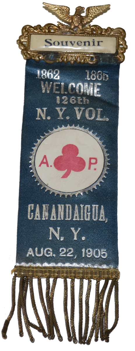 1905 REUNION RIBBON FOR THE 126th NEW YORK