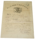 EAGLE MASTHEAD DISCHARGE – PVT. JOSIAH WICKARD, 7TH MICHIGAN CAVALRY