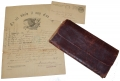 EAGLE MASTHEAD DISCHARGE AND CIVIL WAR ERA LEATHER WALLET ID'D TO CORP. ALONZO B. MCKENZIE, 140TH PENNSYLVANIA INFANTRY – WOUNDED AT GETTYSBURG!
