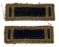 CIVIL WAR FIRST LIEUTENANT STAFF SHOULDER STRAPS: REGIMENTAL ADJUTANTS, ASSISTANT SURGEONS, ETC.