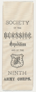 SOCIETY OF THE BURNSIDE EXPEDITION NINTH CORPS RIBBON