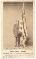 POST-WAR CDV IMAGE OF MEDAL OF HONOR RECEIPIANT SERGEANT BATES