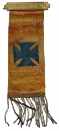 1894 REUNION RIBBON FOR THE 5th PA RESERVES, 34th PA VOL. INFANTRY