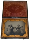 EXCELLENT HALF PLATE AMBROTYPE OF A FAMILY