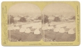 STEREO CARD OF GETTYSBURG FROM OBSERVATORY ON EAST CEMETERY HILL