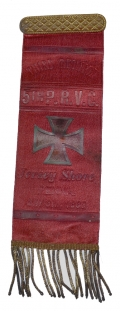 1889 THIRD ANNUAL REUNION RIBBON FOR THE 5th PRVC (34th PA VOLS)