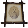 LARGE FORMAT ALBUMEN PHOTO OF AN OHIO CAPTAIN