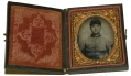 CLASSIC NINTH PLATE AMBROTYPE OF A SOUTHERN SOLDIER