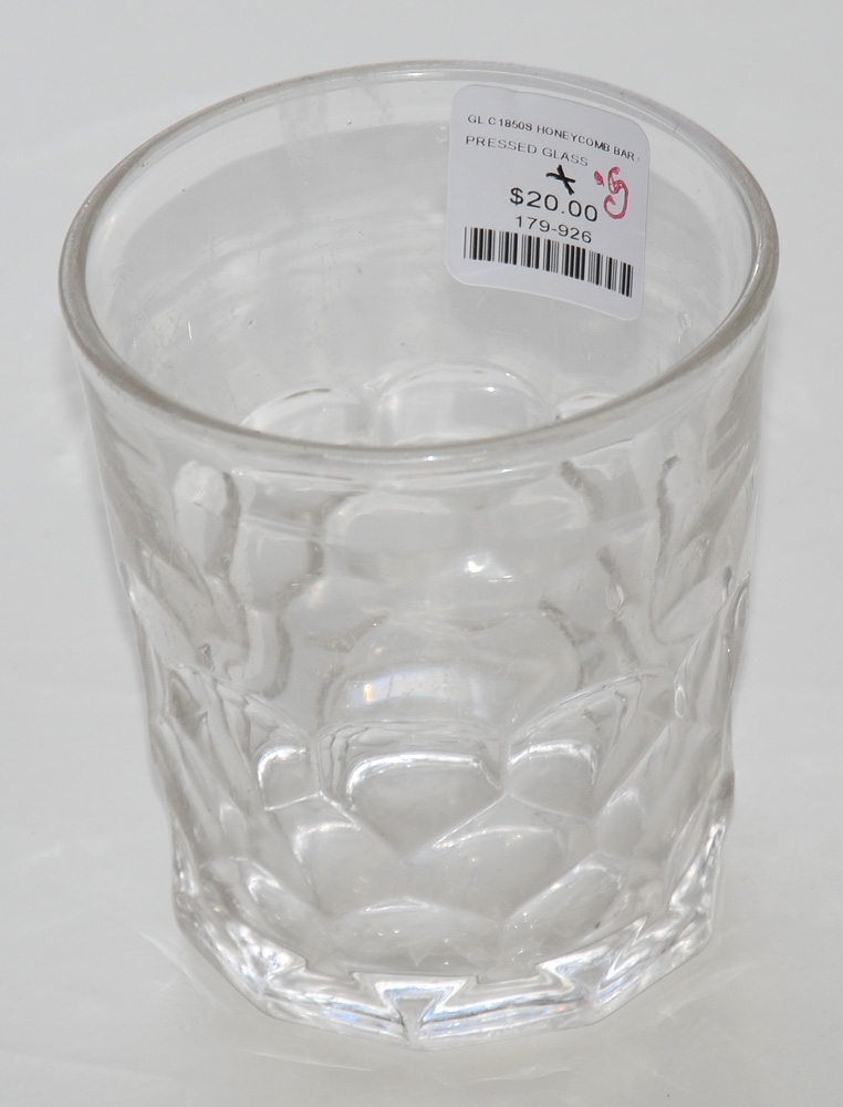 1850's HONEYCOMB PRESSED GLASS TUMBLER