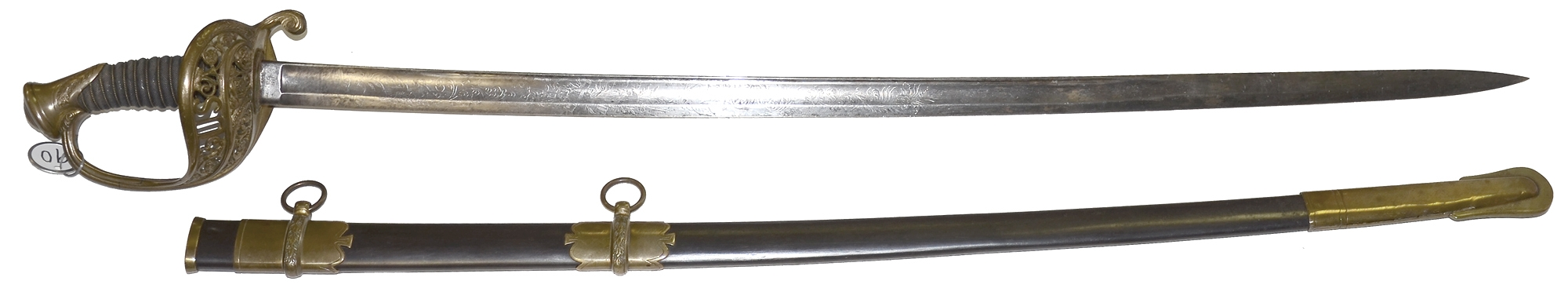 EXTREMELY SCARCE US INSPECTED AND 1861 DATED AMES 1850 STAFF AND FIELD OFFICER'S SWORD