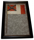 FRAMED C.S. THIRD NATIONAL FLAG - ID'D TO BRIG. GEN. WILLIAMS CARTER WICKHAM