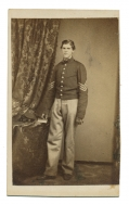 FULL STANDING CDV OF SGT. OAKLEY W. CARPENTER, 52ND NEW YORK