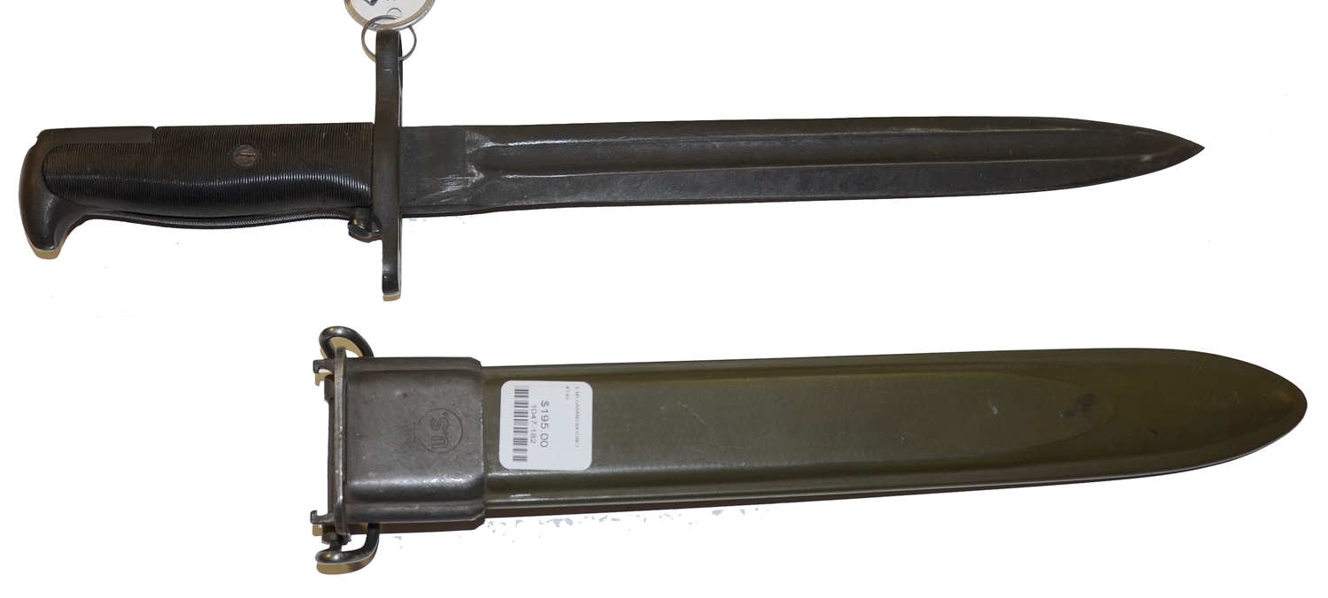 UFH 1943 DATED BAYONET & SCABBARD FOR THE M1 GARRAND