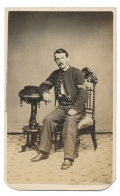 VERY NICE FULL SEATED VIEW OF CAVALRY SERGEANT CHARLES E. BECK - PERIOD INK ID