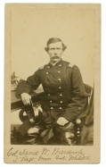 EXCEPTIONALLY CLEAR INK SIGNED SEATED VIEW OF 3RD MASSACHUSETTS & 99TH NEW YORK INFANTRY COLONEL
