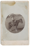 CABINET CARD PHOTOGRAPH OF A MOUNTED COWBOY