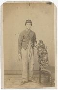 CDV YOUNG NORRISTOWN CAVALRYMAN WITH PISTOL