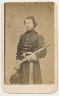 CDV OF A CAVALRY OFFICER BY GUTEKUNST OF PHILADELPHIA