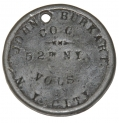 IDENTIFICATION DISC FOR 52ND NEW YORK INFANTRY SOLDIER