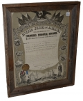 FRAMED PERSONAL SOLDIER'S RECORD FOR 209TH PENNSYLVANIA SOLDIER WOUNDED AT FORT STEADMAN