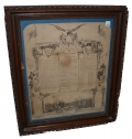 FRAMED SOLDIER'S MEMORIAL FOR COMPANY F, 9TH NEW YORK STATE MILITIA