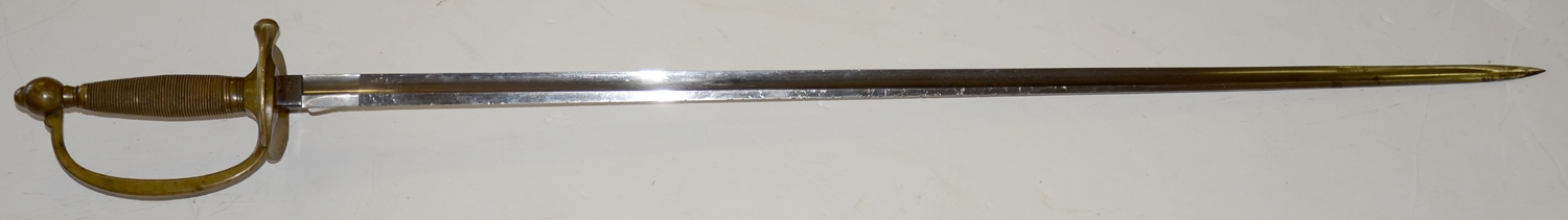 VERY SCARCE ORDNANCE CONTRACT COLLINS AND COMPANY 1840 NCO SWORD SEPARATELY DATED 1862