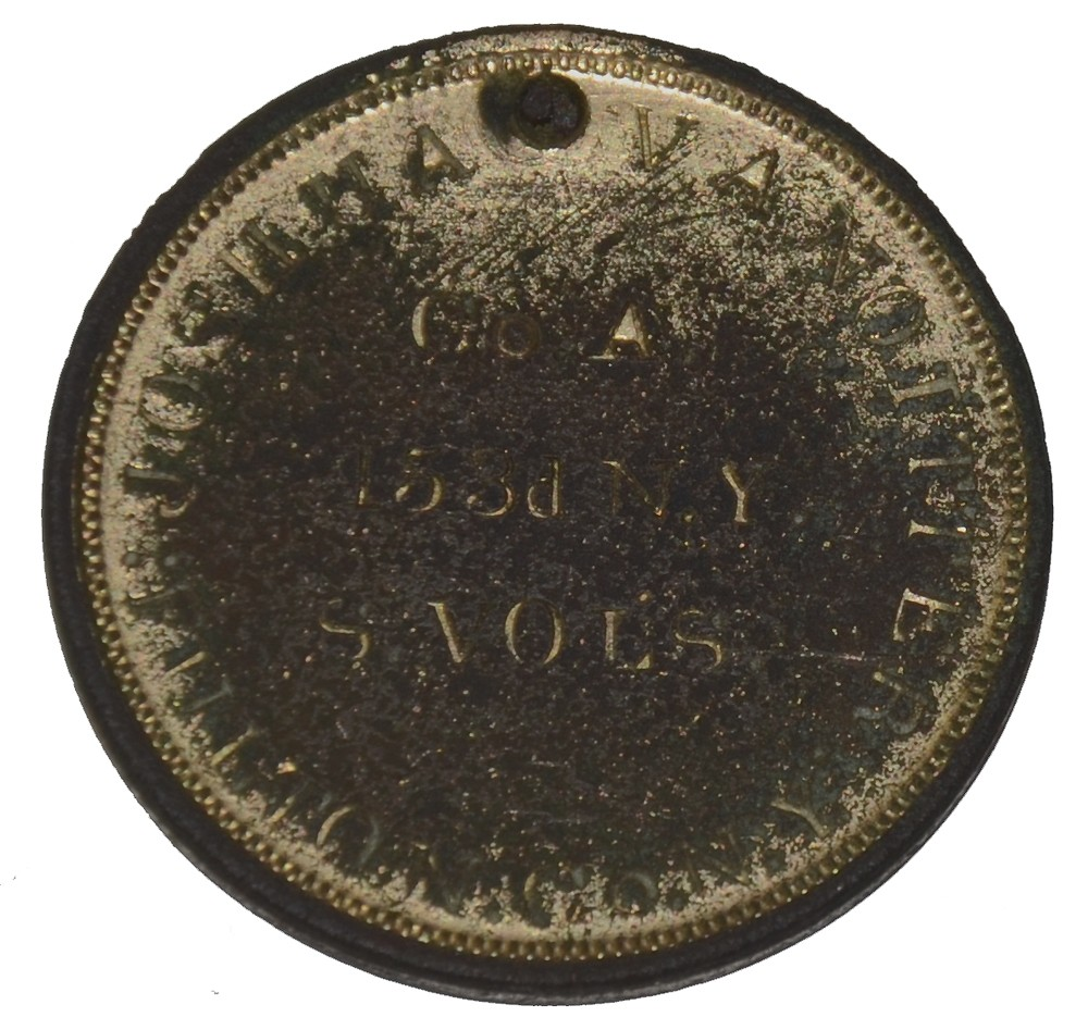 IDENTIFICATION DISC FOR 153RD NEW YORK INFANTRY SOLDIER