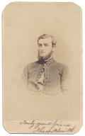 INK SIGNED BUST VIEW CDV OF QUARTERMASTER SERGEANT THEOPHILUS H. SMITH