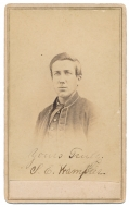 INK SIGNED CDV OF 15TH PENNSYLVANIA CAVALRY TROOPER