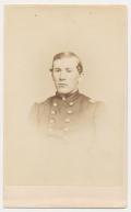 BUST CDV OF 15TH PENNSYLVANIA CAVALRY MAJOR KILLED AT STONES RIVER