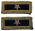 BRIGADIER GENERAL SHOULDER STRAPS OF GEN. JOHN RAMSEY, WOUNDED AT CHANCELLORSVILLE, THE ROSE WOODS AT GETTYSBURG, AND AT PETERSBURG